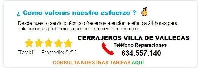 cerrajeros Villa de Vallecas precios